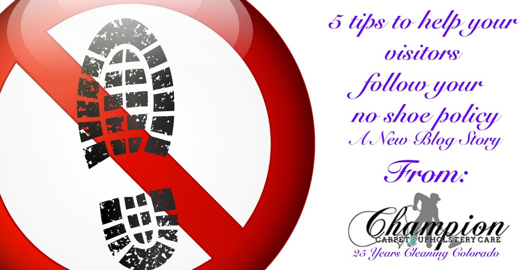 5 tips to help your visitors follow your no shoe policy