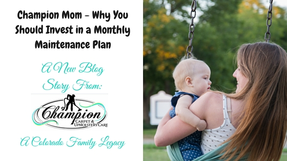 Champion Mom - Why You Should Invest in a Monthly Maintenance Plan
