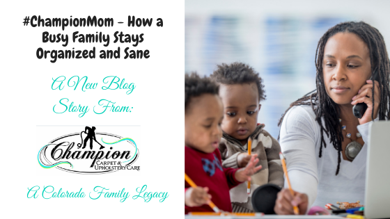 #ChampionMom - How a Busy Family Stays Organized and Sane