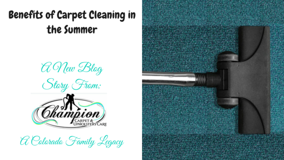 Benefits of Carpet Cleaning in the Summer