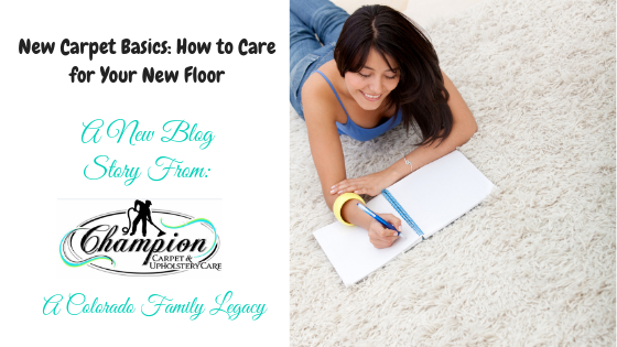 New Carpet Basics: How to Care for Your New Floor